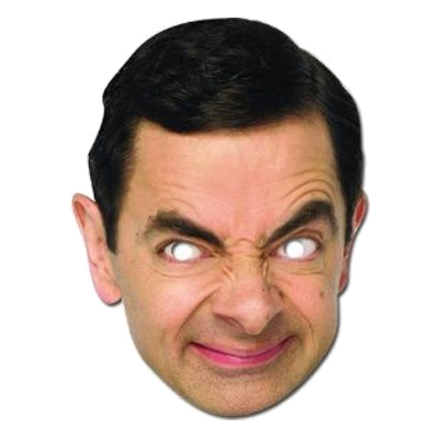Mr Bean Pappmask