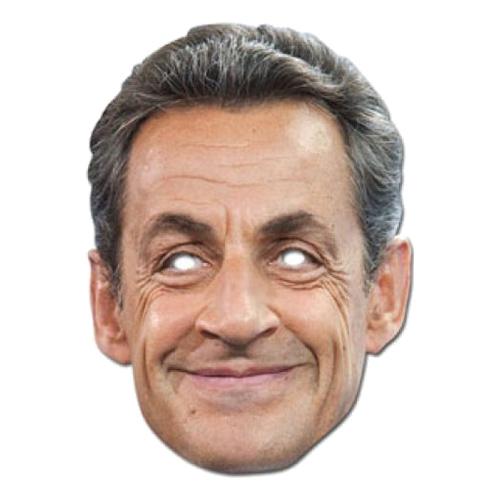 Nicolas Sarkozy Pappmask