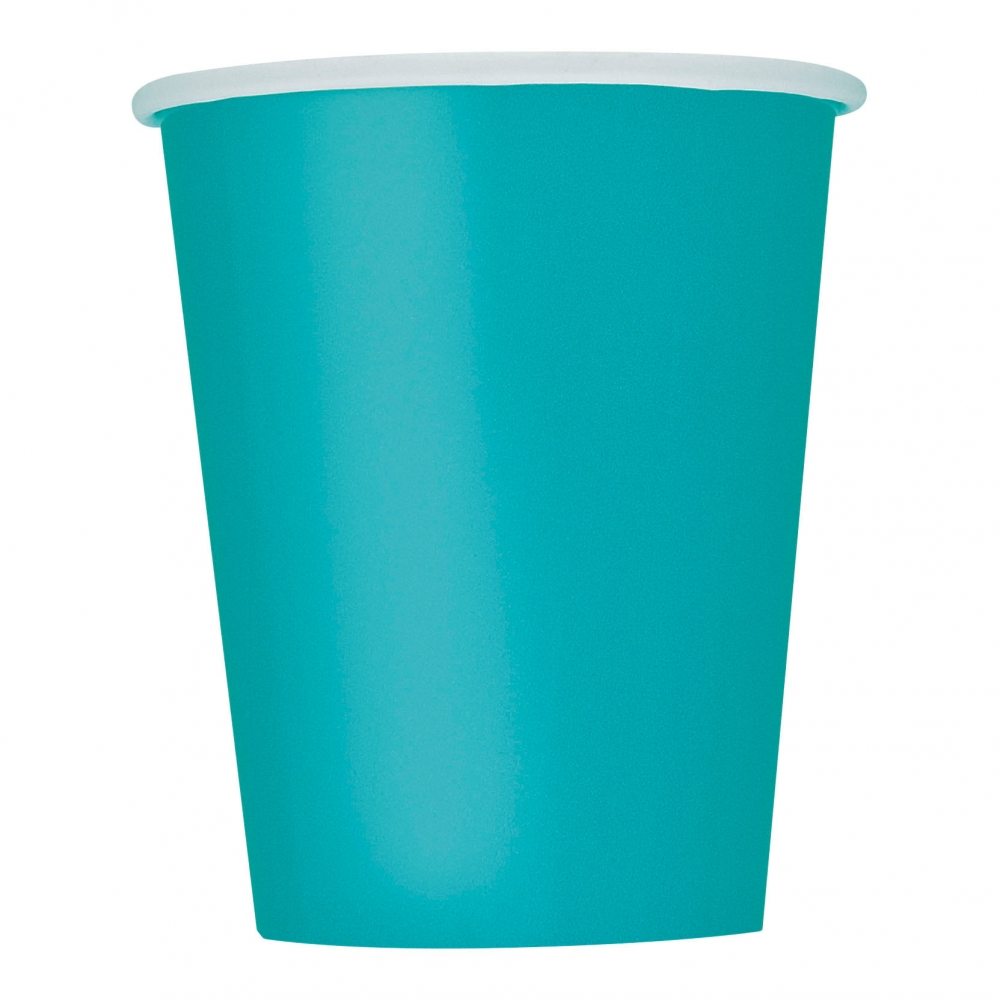 Pappersmuggar kaffe turkos   partykungen.se