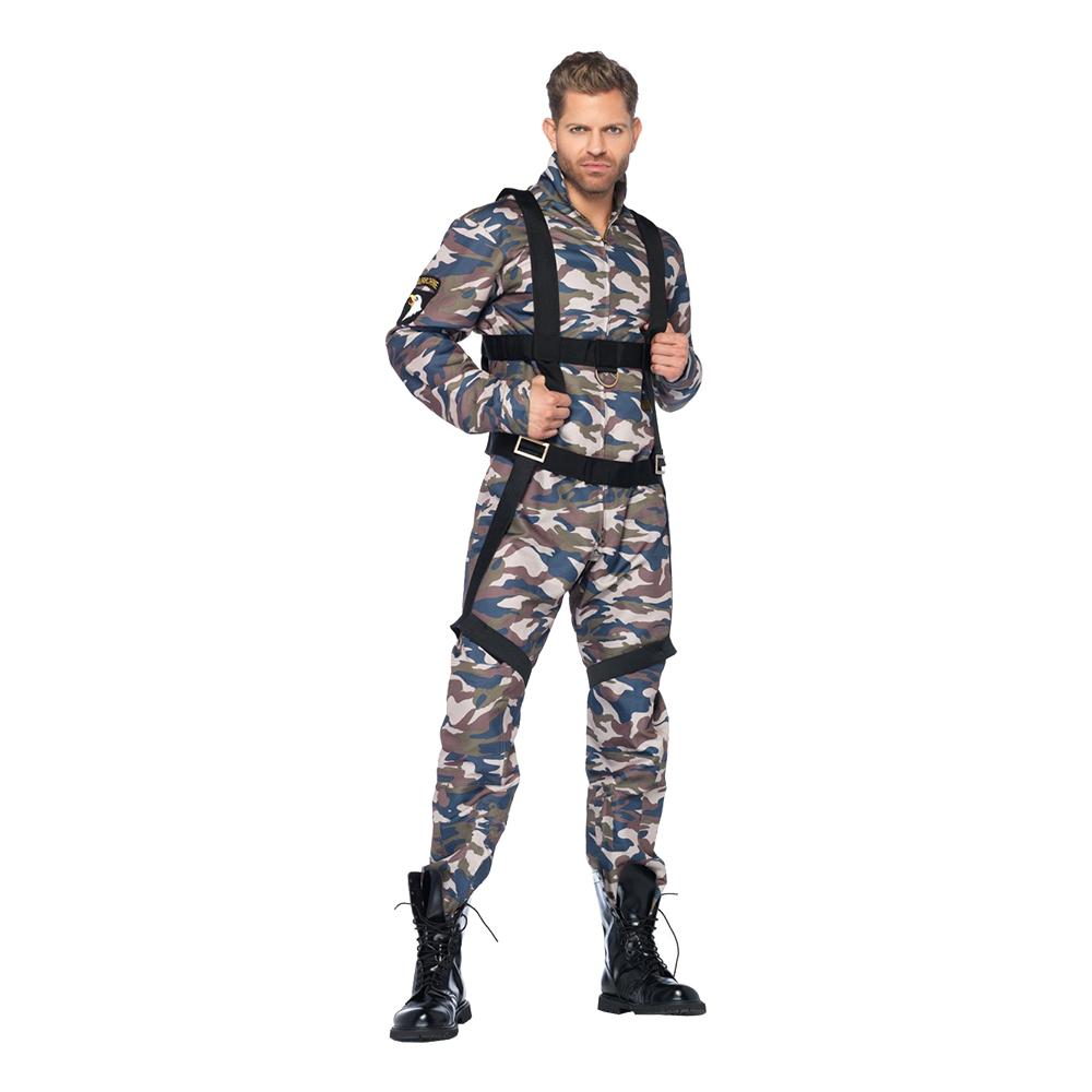 Paratrooper Militär Deluxe Maskeraddräkt