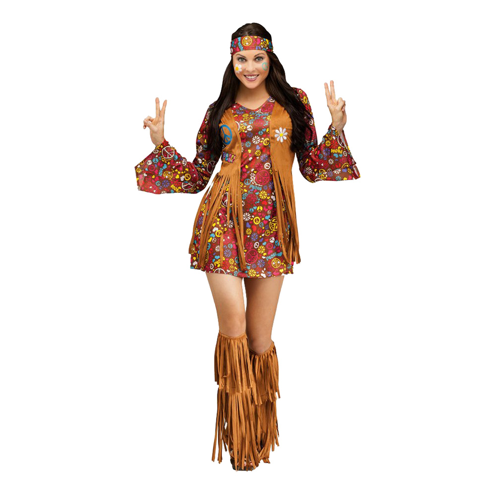 Peace & Love Hippie Maskeraddräkt
