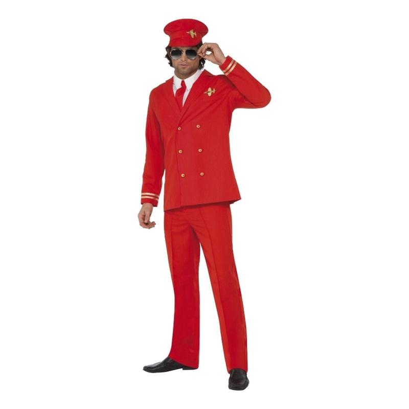 Pilot Röd Maskeraddräkt
