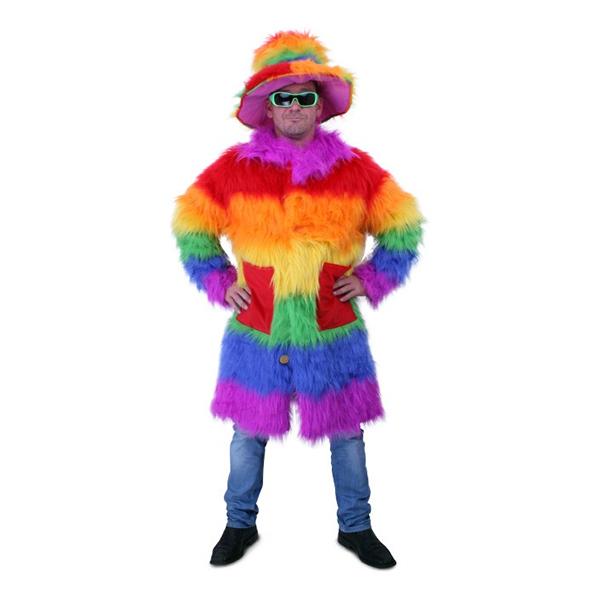 Pimp Regnbågsfärgad Deluxe Maskeraddräkt