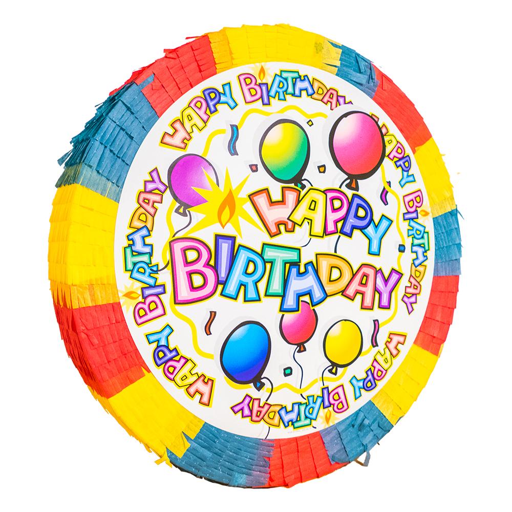 Pinata Happy Birthday Regnbåge