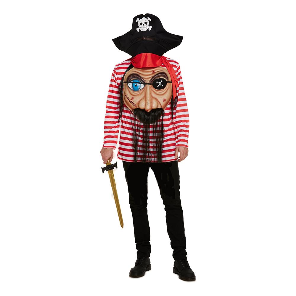 Pirat med Jätteansikte Maskeraddräkt
