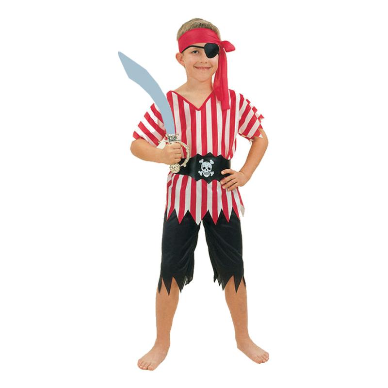 Piratpojke Randig Barn Maskeraddräkt