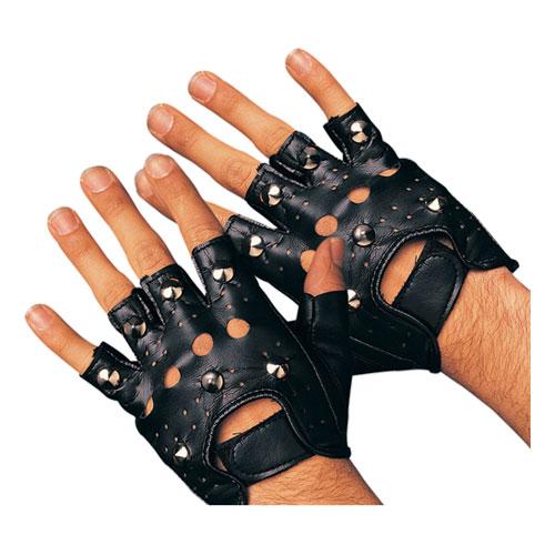 Punkhandskar med nitar