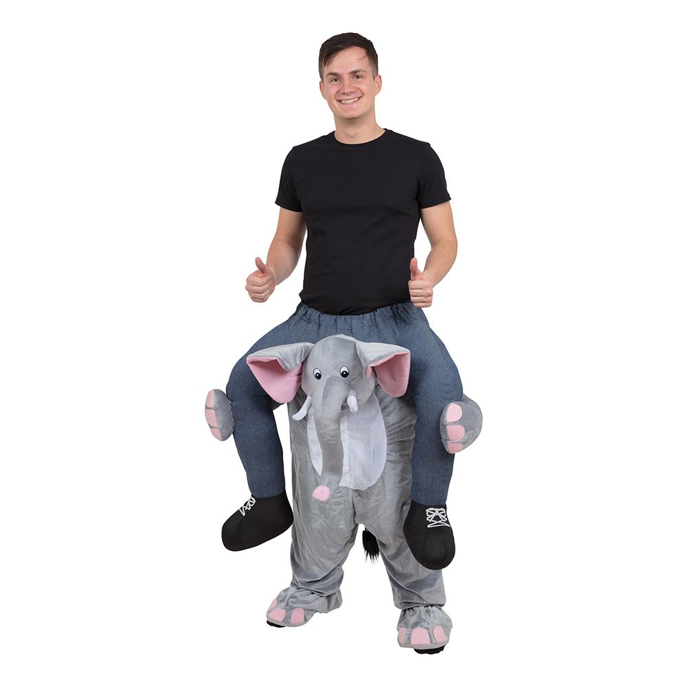 Ridande Elefant Maskeraddräkt