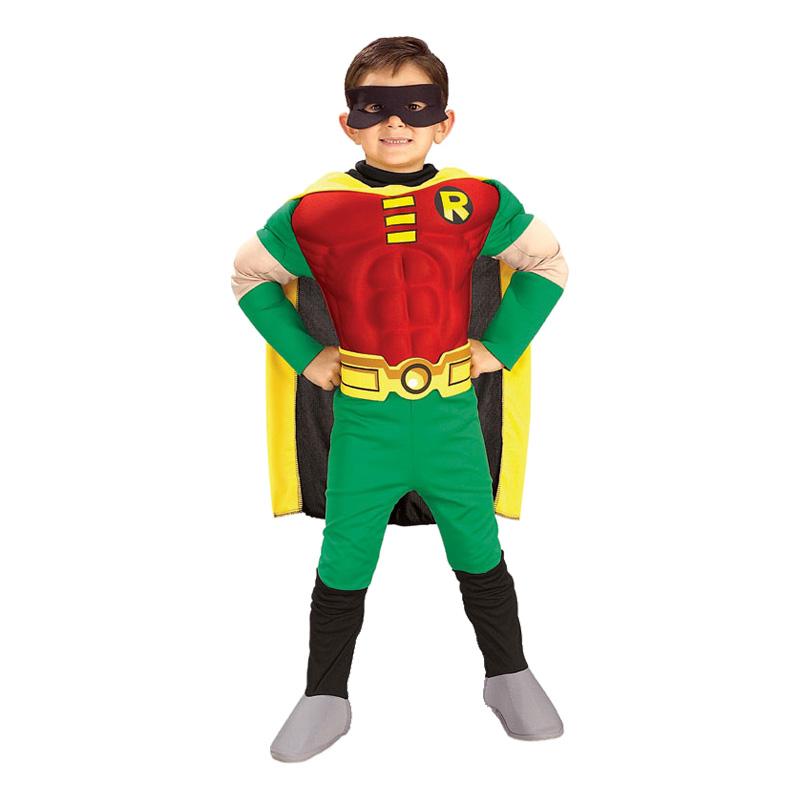 Robin med Muskler Barn Maskeraddräkt