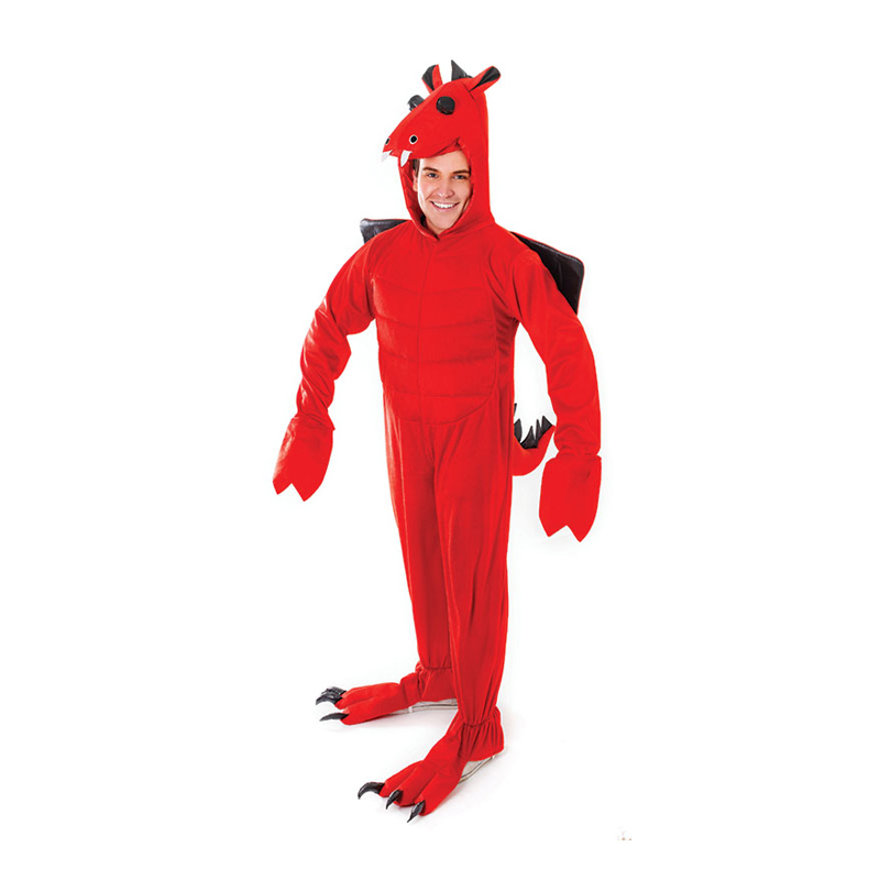 Röd Drake Maskeraddräkt