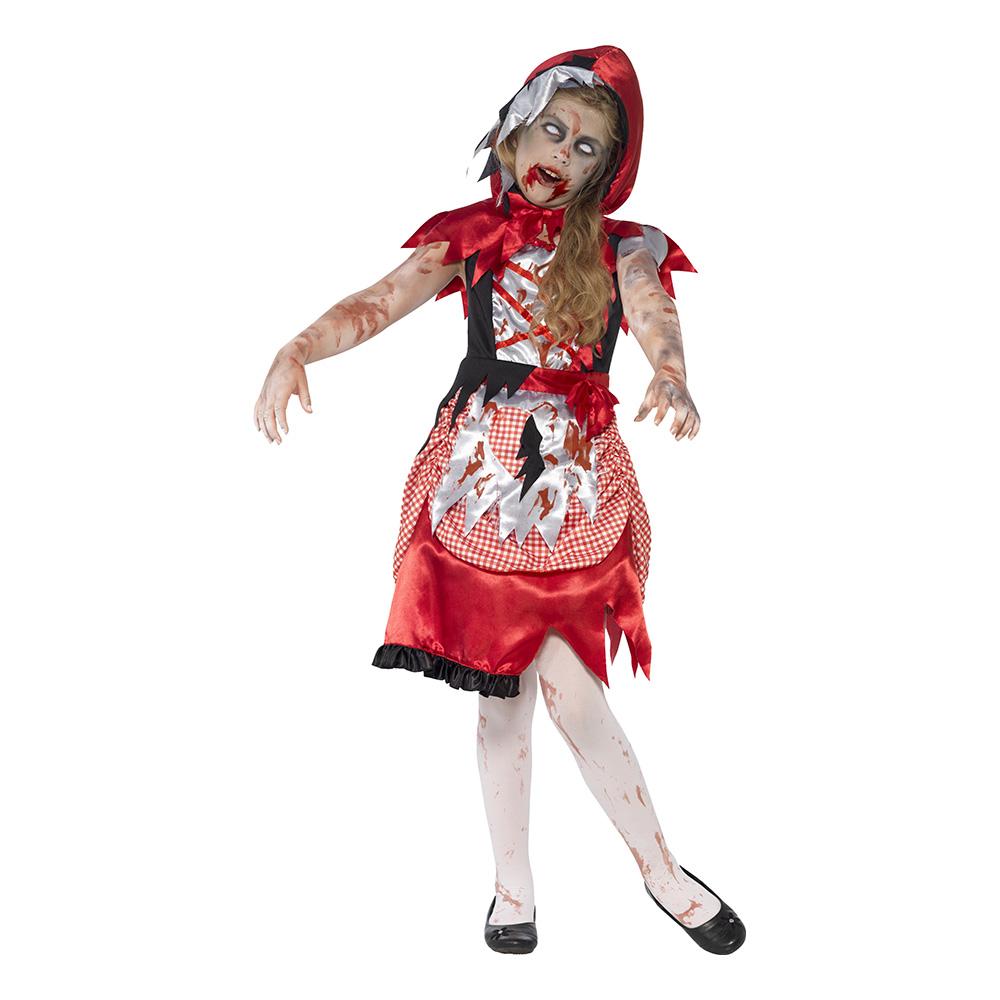 Maskeradkläder Barn - Rödluvan Zombie