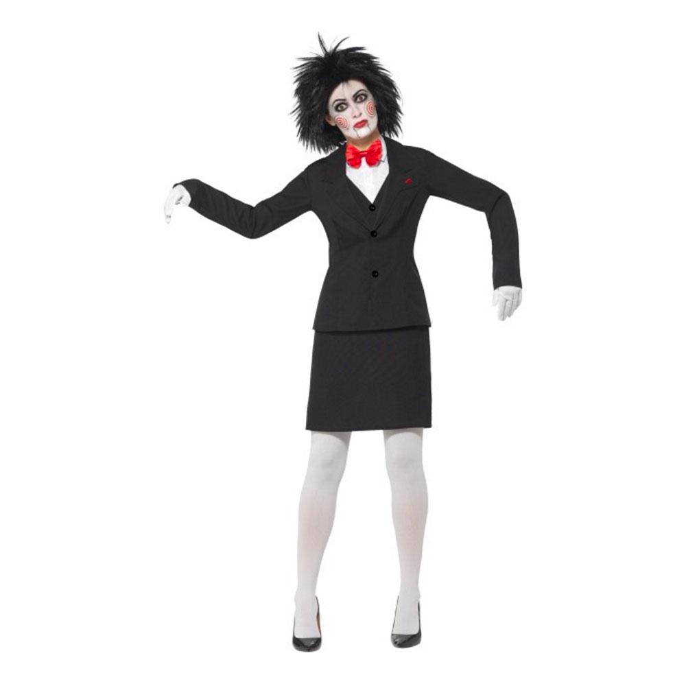 Saw Puppet Tjej Maskeraddräkt