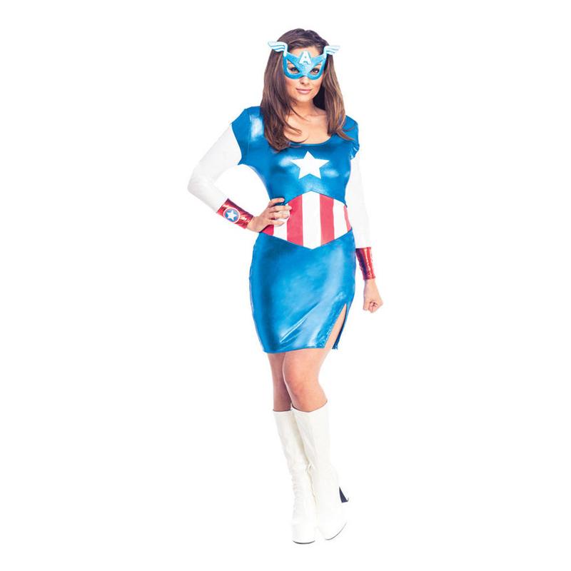 Captain Americaklänning Maskeraddräkt