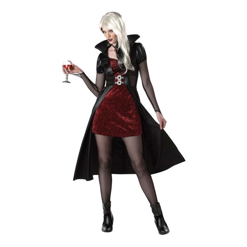 Vampyra Röd/Svart Maskeraddräkt