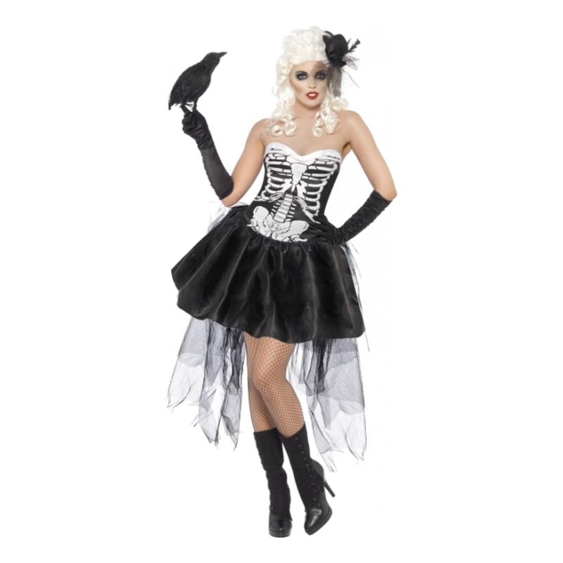 Skelett med Kjol Maskeraddräkt