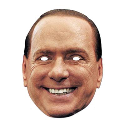 Silvio Berlusconi Pappmask