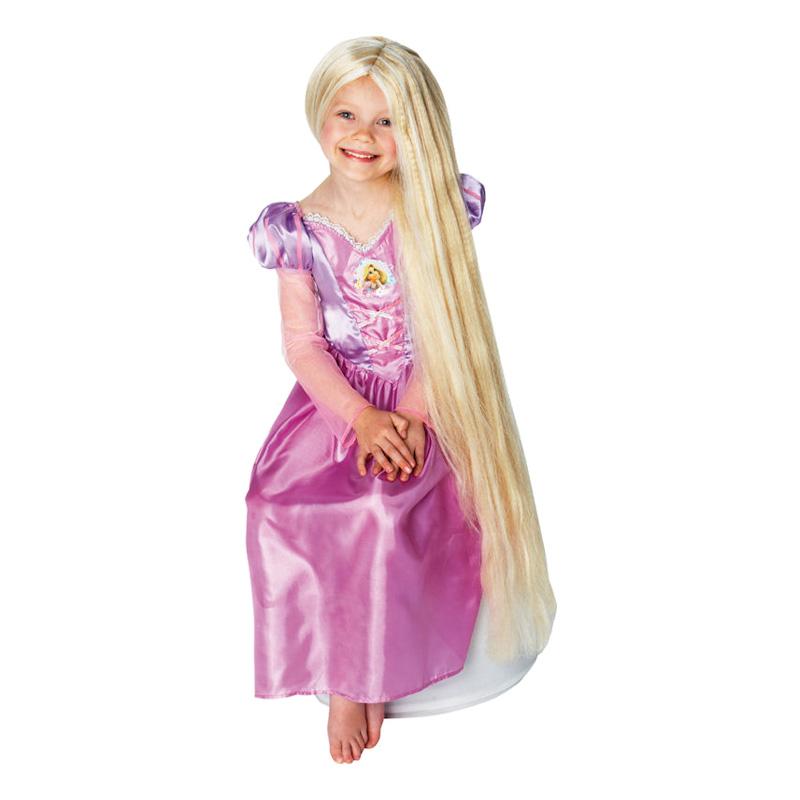 Självlysande Rapunzel Barn peruk