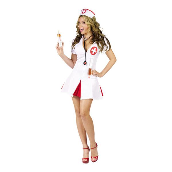 Sjuksköterska med Shotsprutor Maskeraddräkt