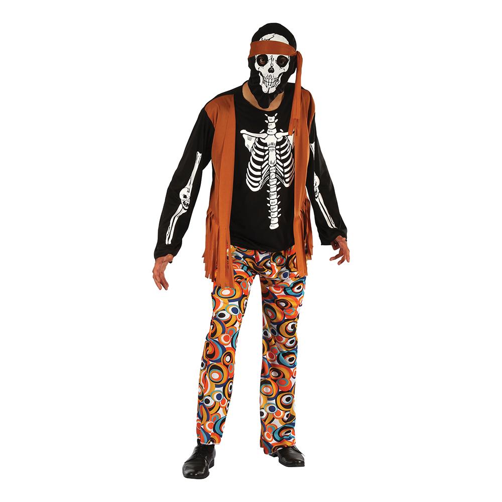 Skelett Hippie Maskeraddräkt