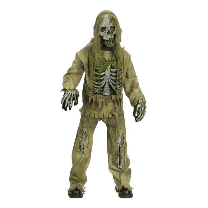 Skelett Zombie Barn Maskeraddräkt