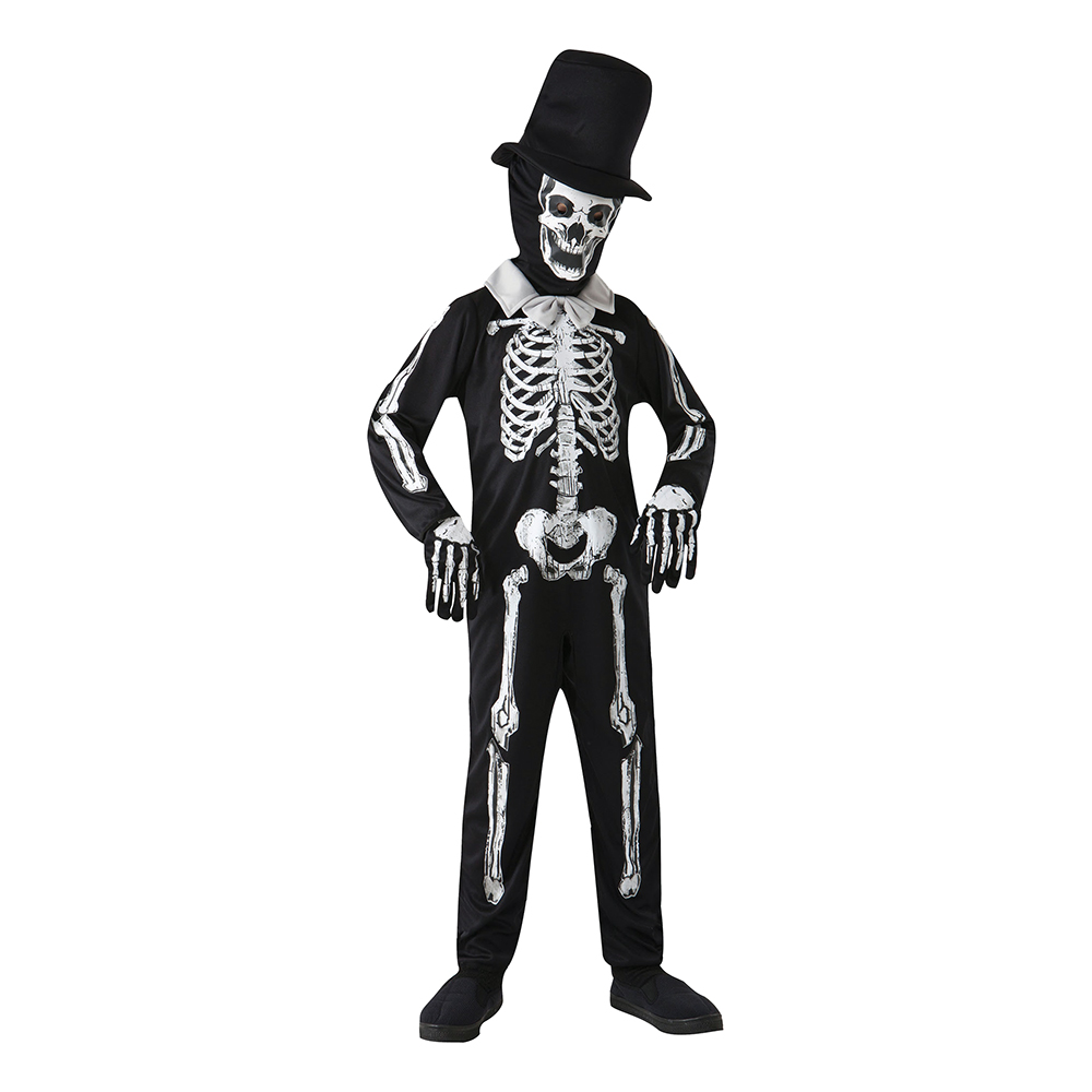 Skelettherre Barn Maskeraddräkt
