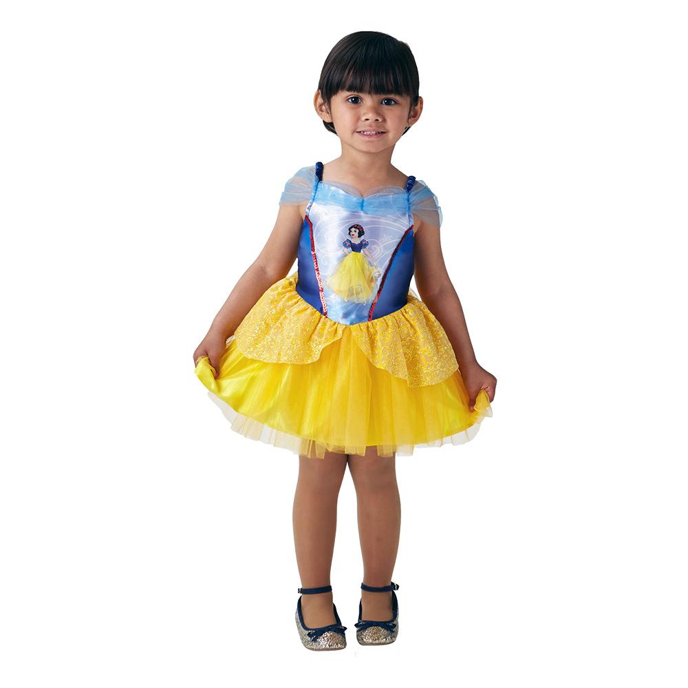 Snövit Ballerinaklänning Barn Maskeraddräkt