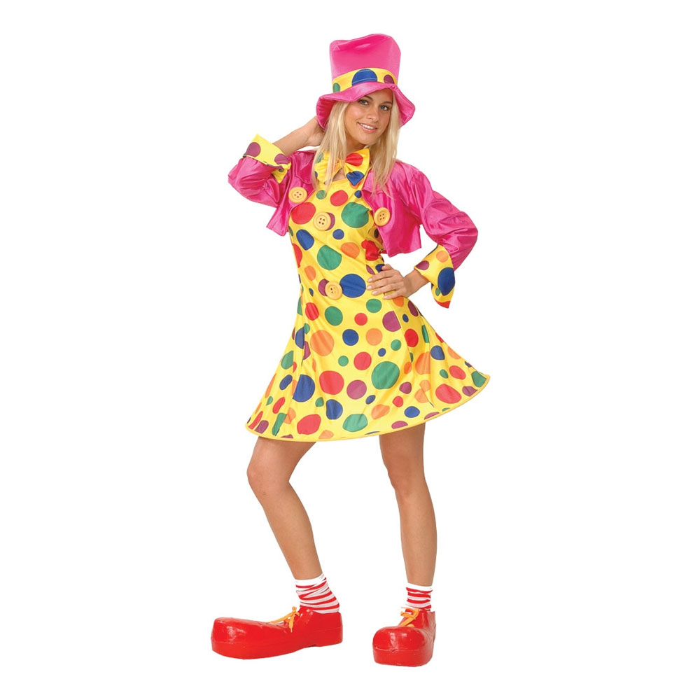 Söt Clowntjej Maskeraddräkt