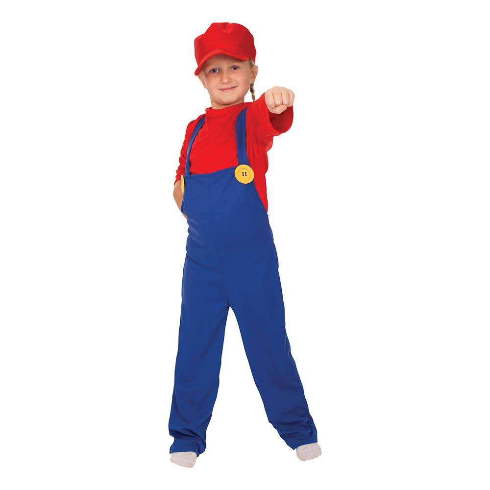 Super Rörmokare Barn Maskeraddräkt
