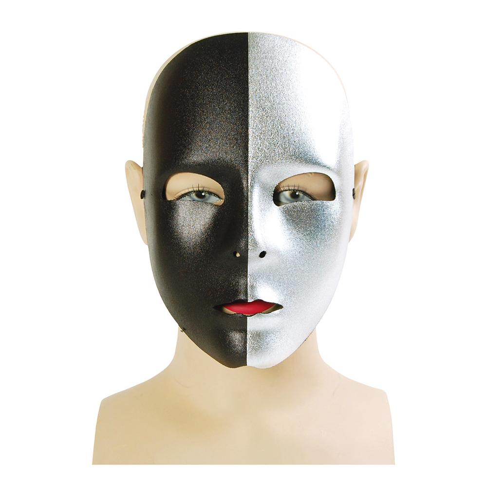 Svart/Silvrig Ansiktsmask