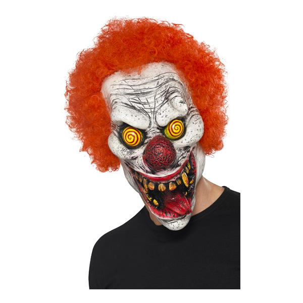Elak Clown med Hår Mask