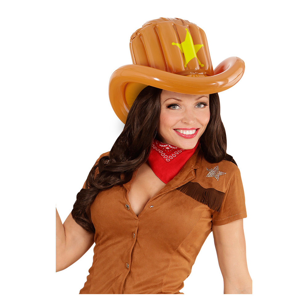 Uppblåsbar Cowboyhatt