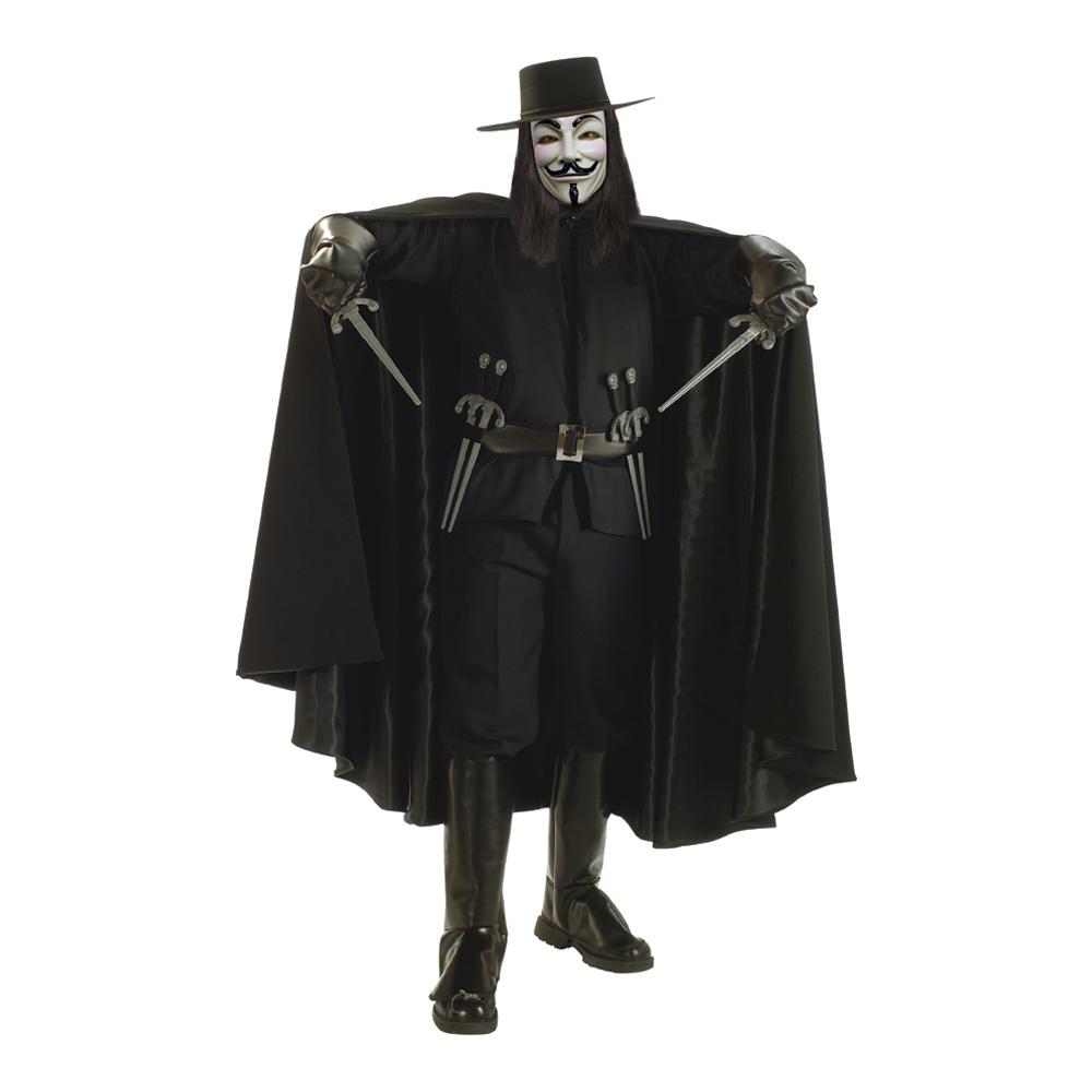 V For Vendetta Deluxe Maskeraddräkt