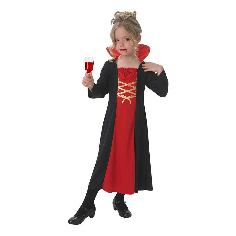 Vampyra Klänning Barn Maskeraddräkt