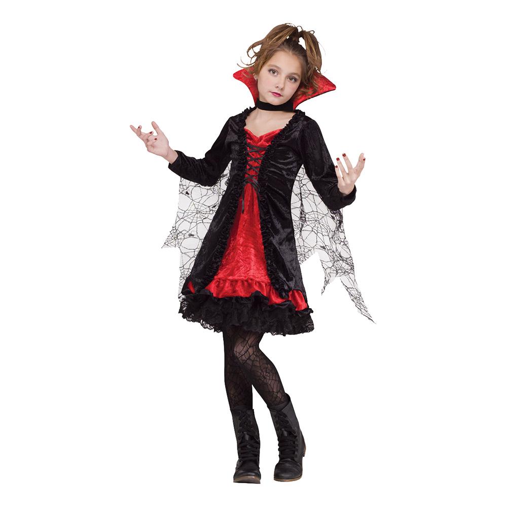 Vampyra Spets Barn Maskeraddräkt