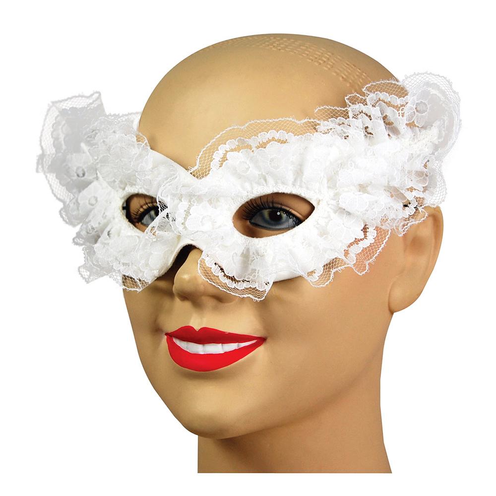 Vit Venetiansk Carnivalmask