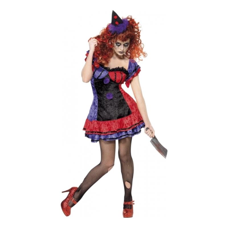 Kvinnlig Elak Clown Maskeraddräkt