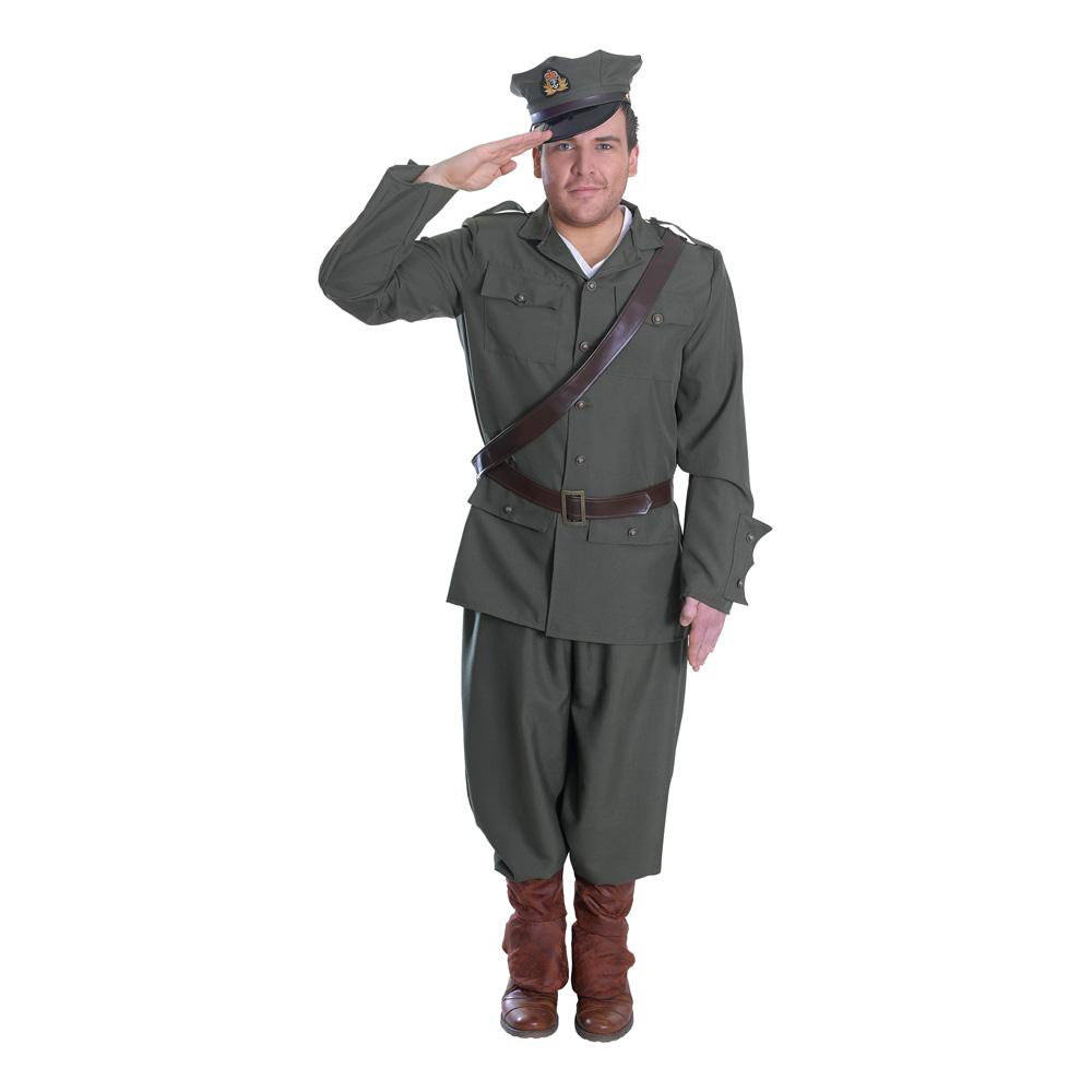 WW1 Armé Officer Herr Maskeraddräkt