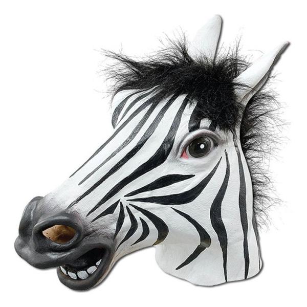 Zebramask i Gummi