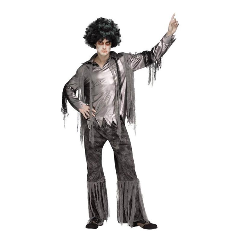 Zombie Disco Man Maskeraddräkt