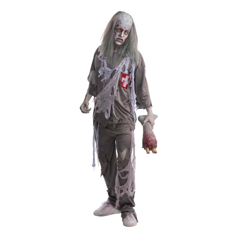 Zombie Doktor Halloween Maskeraddräkt