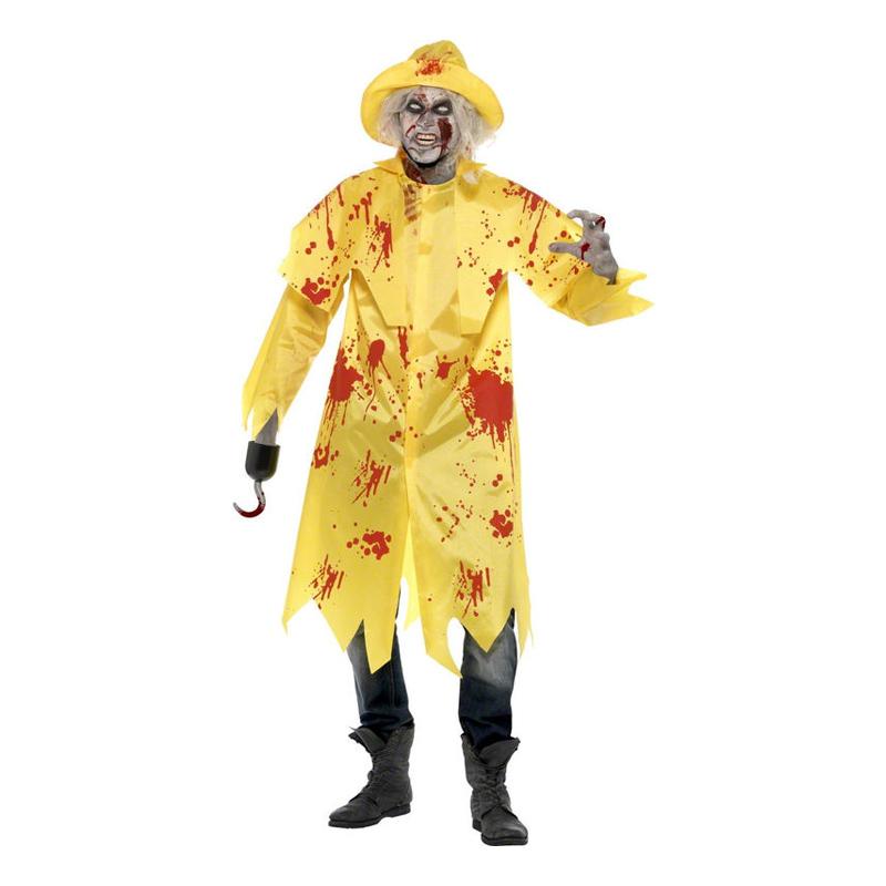 Zombie Fiskare Maskeraddräkt