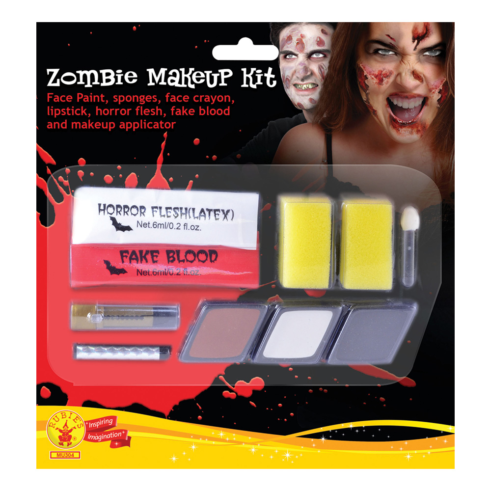Zombie Dam Makeup Kit med Latex