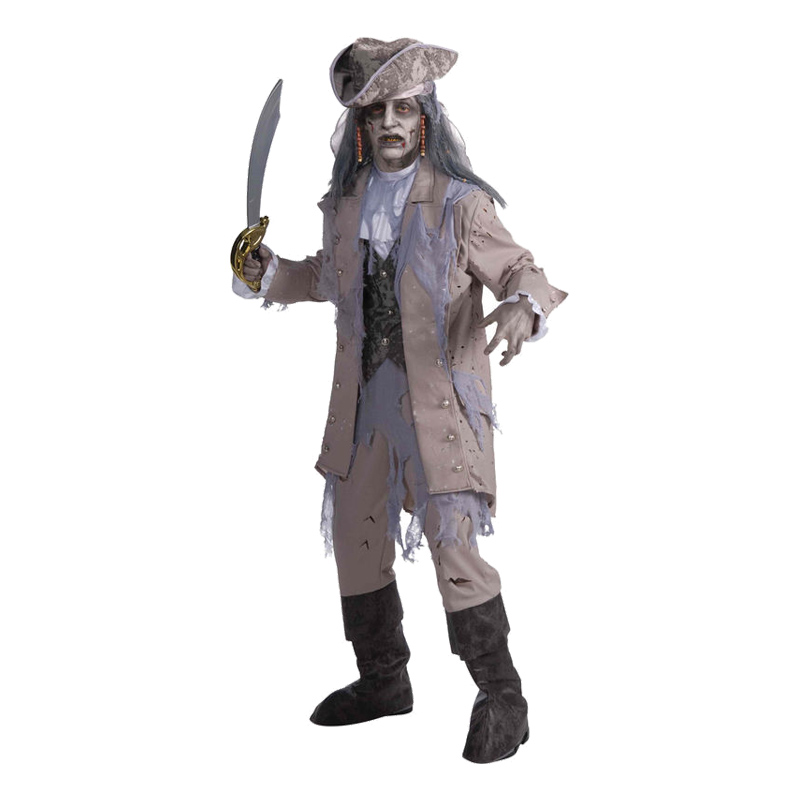 Zombie Pirat Man Maskeraddräkt