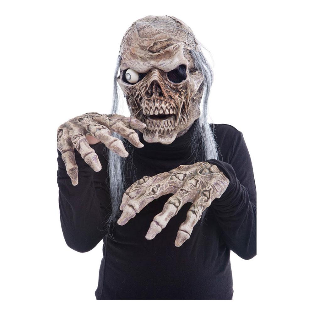Zombiemask med Ljud & Händer