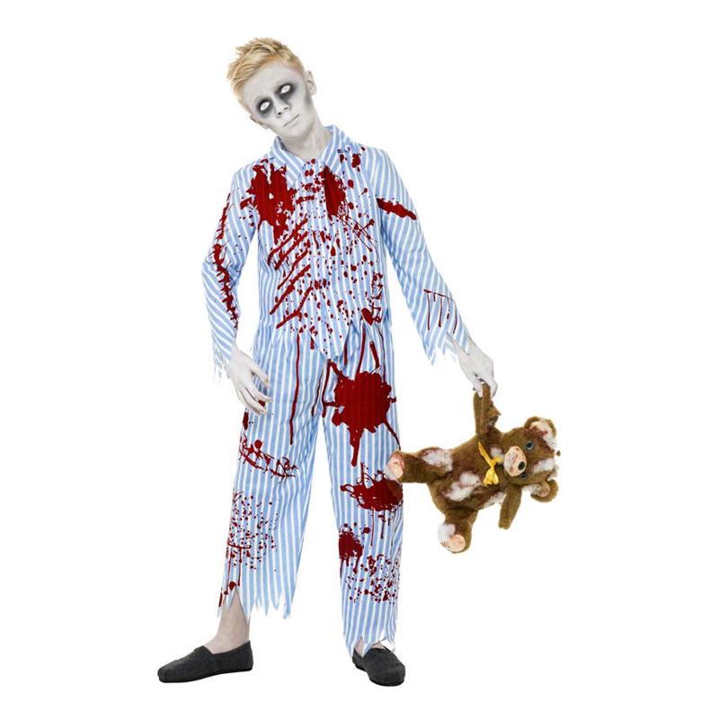 Zombiepojke i Pyjamas Barn Maskeraddräkt