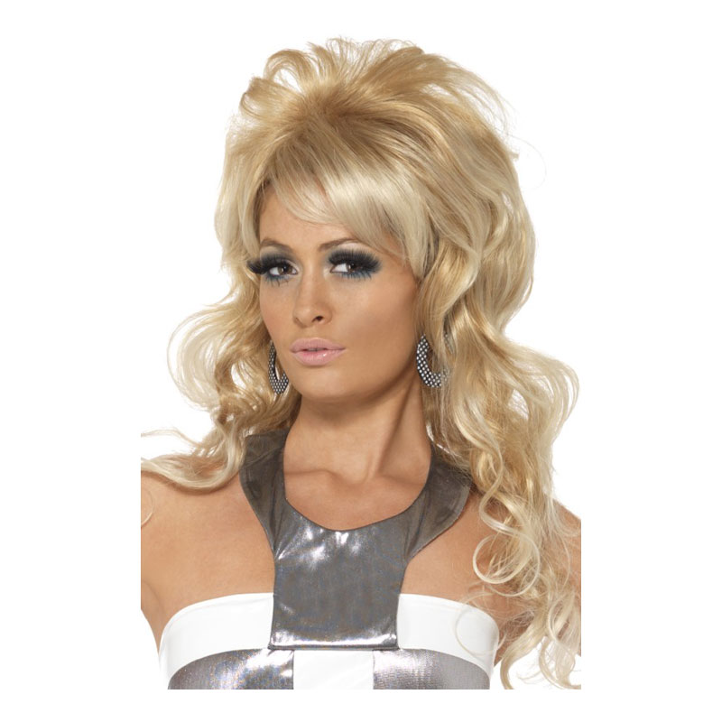 60-tals Lång Blond Peruk - One size
