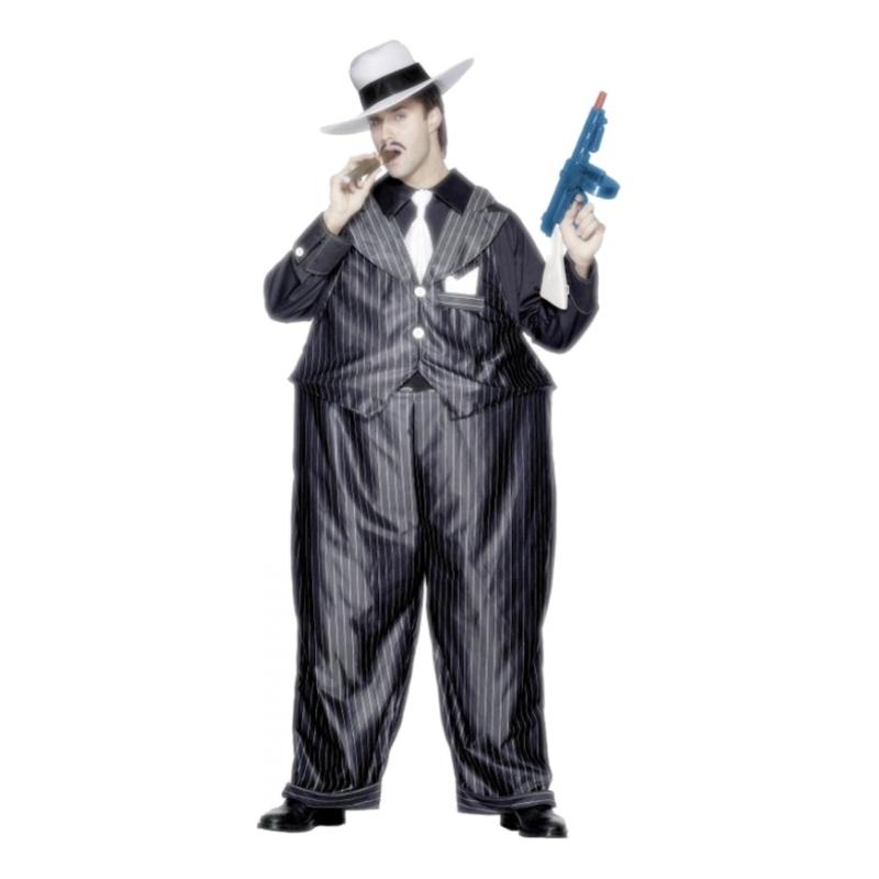 Tjock Gangster Maskeraddräkt - One size