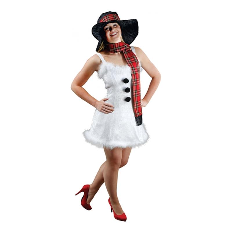 Kvinnlig Snögubbe Maskeraddräkt - One size