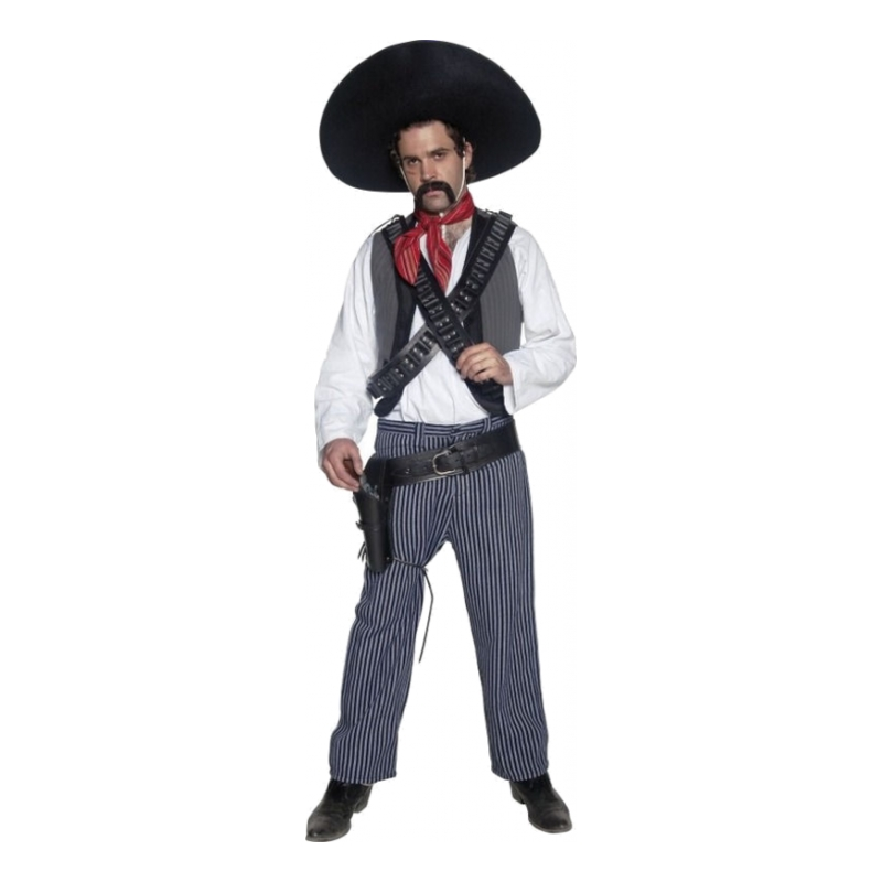 Mexikansk Bandit Maskeraddräkt - One size