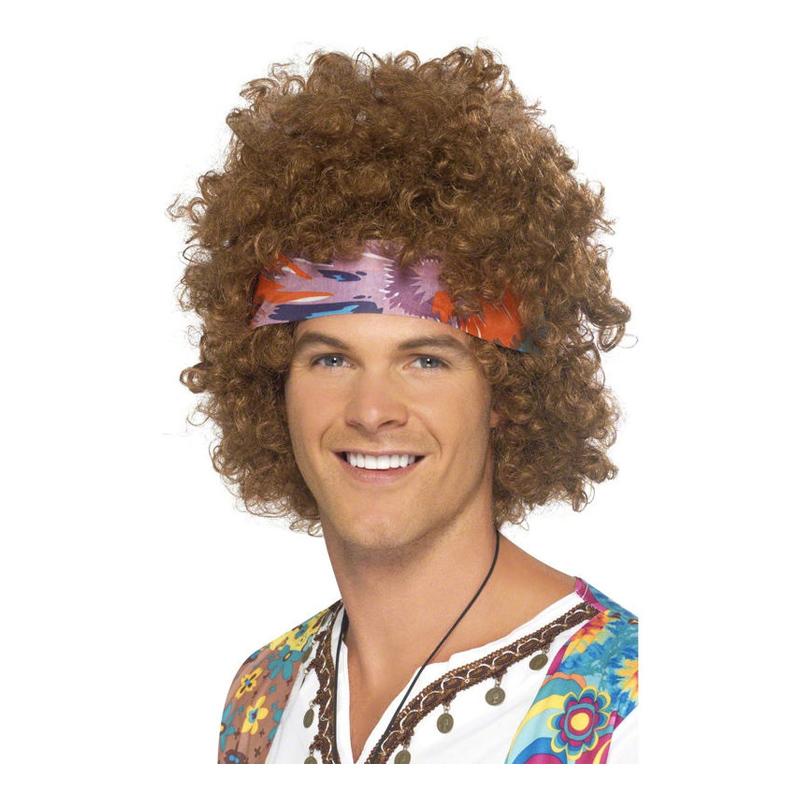 ff7dc55e73fc Söker du Afro med Pannband Peruk - One size? Du har hittat rätt! inne hos  oss finner du ett utvalt utbud